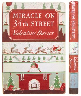 Miracle on 34th. Street. Valentine Davies. Чудо на 34-й улице. Валентин Дэвис. На английском языке. В суперобложке, формат: 13,2х19,3х1,3 см. Хорошее состояние. Первое издание! 1947 год.